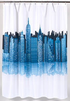 """Cityscape"" Fabric Shower Curtain"