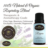 #1 Respiratory Essential Oil & Sinus Relief Blend - Supports Allergy Relief, Breathing, Congestion Relief, & Respiratory Function - 100% Organic Therapeutic & Aromatherapy...