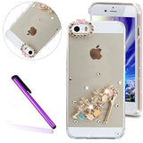 6S Cover iPhone 6 Cover EMAXELER Bling Swarovski Crystal Rhinestone Diamond Clear Slim Premium Hard PC Cover for iPhone 6/6S 4.7inch Beauty