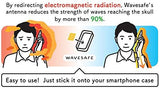 Anti Radiation sticker for smart phone developed by former researcher at Sony Central R&D labs