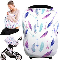 Hicoco Baby shower gift baby car seat covers, nursing covers, carseat canopy, boys girls privacy breastfeeding cover