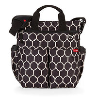Skip Hop Duo Signature Carry All Travel Stroller Hangable Diaper Bag Tote with Multi Pockets and Changing Pad