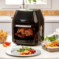 6 QT Power Air Fryer Oven Plus- 7 in 1 Cooking Features with Professional Dehydrator and Rotisserie
