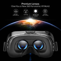 DESTEK V4 VR, 103°FOV, Eye Protected HD Virtual Reality Headset w/Controller/Gamepad for Samsung s8 s7 s6/Plus/Edge Note 8, Other Android & iOS Smartphones w/4.5-6.0in Screen