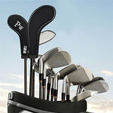 10L0L Golf Club Head Covers, Neoprene Zippered Golf Club Head Iron Covers - Set of 10