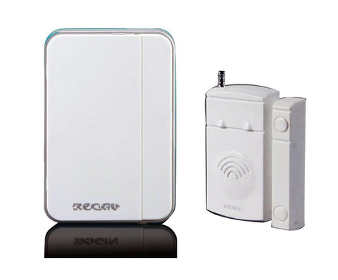 0630 Home Security Door/windows Magnetic Sensor Alarm Entry Alert Chime with Wireless Receiver White
