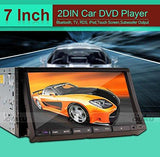 "2 Din 7"" Inch Car Autoradio Stereo DVD CD Player Radio AM FM Multimedia Bluetooth Ipod CD DVD Player Steer Wheel+Backup Camera"