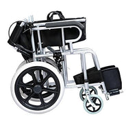 Comfy Go - Foldable Lightweight Manual Transport Medical Wheelchair (Black)