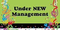 """UNDER NEW MANAGEMENT"" Full Color Durable Banner - 24"" x 48"""