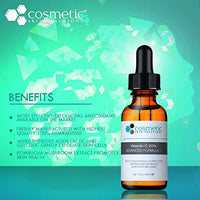 #1 BEST Vitamin C 20% Serum + Ferulic Acid & Hyaluronic Acid For Maximum Anti-Aging! 100% Safe & Effective! Highly Concentrated Solution To Repair, Protect, Prevent...