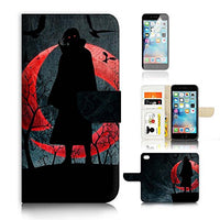 ( For iPhone 7 Plus ) Flip Wallet Case Cover and Screen Protector Bundle A20091 Naruto Itachi