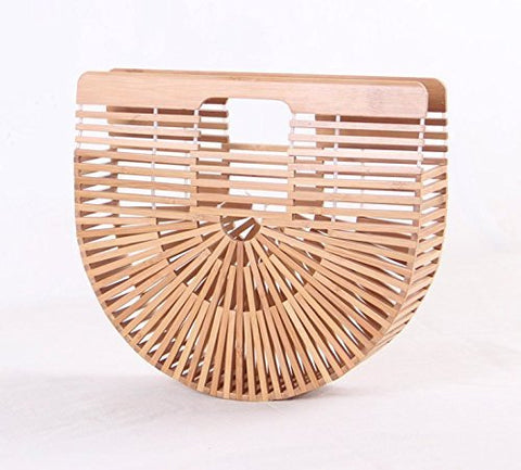 GRAS women's Summer Bamboo Ark bag in multiple colors/Beach bamboo handbag/Bohemian Tote bag/Woman's vacation Purse/Tote bag