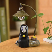 fannuoyi Spirited Away Kaonashi No Face Man Night Light Best Gift Home Decor Craft Decorative Lights (Light with Blue-Totoro)
