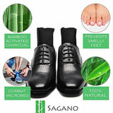 Activated Charcoal Shoe Deodorizer Inserts By Sagano - 2x Extra Large Size - Eliminates Moisture and Odor in Purses and Bags (Medium)