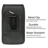 AIScell Holster For Iphone 8 Plus, 7 Plus,6S/6 Plus(5.5) ~Extra Large Ultra Rugged Pouch Nylon Case Metal Belt Clip{Fits Iphone+Lifeproof Waterproof/Otterbox Defender/Mophie Juice Pack Battery Cover}