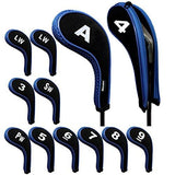 Andux Number Print Golf Iron Covers with Zipper Long Neck 12pcs/set