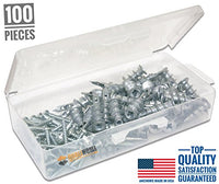 #1 Best Quality Zinc Self Drilling Drywall Anchors with Screws Kit, 100 Pieces All Together