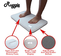 Ruggie Alarm Clock - The Original Rug Carpet Alarm Clock - Digital Display, Battery Operated, Nature Sounds - Advance Design for Modern Home, Kids, Teens, Girls, Guys and Heavy Sleepers (White)