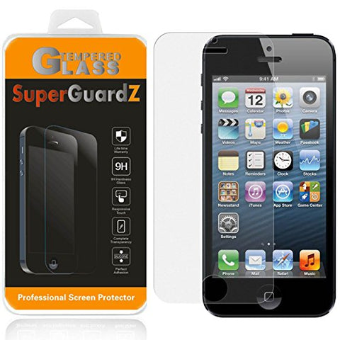 [2-PACK] iPhone SE / 5S / 5C / 5 Screen Protector [Tempered Glass, Anti-Glare, Matte] [Lifetime Replacement], SuperGuardZ, 9H, Anti-Fingerprint