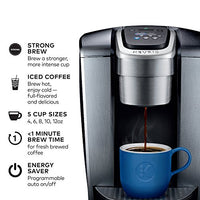 Keurig K-Elite K Single Serve K-Cup Pod Maker, with Strong Temperature Control, Iced Coffee Capability, 12oz Brew Size, Programmable, Brushed Silver/Slate