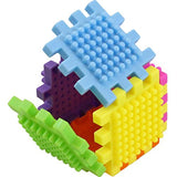 60 Piece Stacking Bristle Blocks and Interconnecting Building Set For Boys & Girls, Educational Fun, Great for Toddlers and Children by Dimple