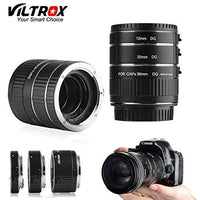 [ROHS CE ] VILTROX DG-C electronic AF Macro extension tube Auto Focus AF Macro lens Extension Tube Ring with Covers for Canon EF EF-S Lens DSLR Camera