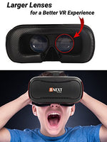 VR Headset for iPhone and Android Phones - Premium Virtual Reality Goggles [3D Goggles] - Play your Best Mobile Games and 360 Videos with the New Adjustable Glasses, VR Viewer By Bnext