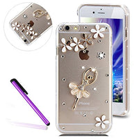 "6 Case iPhone 6S Case EMAXELER Bling Swarovski Crystal Rhinestone Diamond Clear Slim Premium Hard PC Case for iPhone 6/6S 4.7"" Dance Girl"