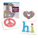 Ann Williams Group Craft-tastic String Art Kit - Craft Kit Makes 3 Large String Art Canvases