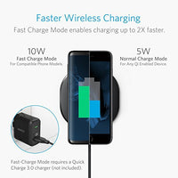 Anker 10W Wireless Charger, Qi-Certified Wireless Charging Pad, PowerPort Wireless 10 for iPhone 8/8 Plus, iPhone X, Samsung Galaxy S9/S9+ and More, Provides Fast-Charging for Galaxy S8/S8+/S7