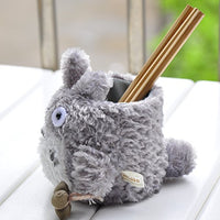 Sytian® Adorable My Neighbor Totoro Plush Pen Holder Totoro Pencil Holder Container Cute Home Decor Room Decor Practical Gifts for Totoro Fans
