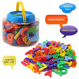 ABC Magnets - 109 Magnetic Alphabet Letters & Numbers With Take Along Bucket By EduKid Toys
