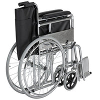 Best Choice Products 24in Lightweight Folding Wheelchair w/Swing-Away Footrest and Carry Pockets - Black