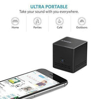 Anker Ultra Portable Pocket Size Wireless Bluetooth Speaker with 12 Hour Playtime, NFC Compatibility, Ultra Compact Ring Box Size (Black) - A7910