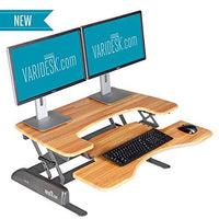Height-Adjustable Standing Desk - VARIDESK Pro Plus 36 – Darkwood