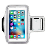 [1 Pack]Water Resistant Sports Armband CaseHQ for iPhone 7/7 Plus, 6/6S Plus (5.5-Inch), Galaxy S6/S7 Edge, y Note 5, with Key Holder/ Flap High Visibility Night Reflective Running Exercise Armband