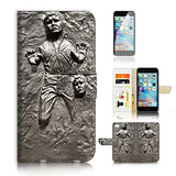 ( For iPhone 7 ) Flip Wallet Case Cover and Screen Protector Bundle A8555 Star Wars Han Solo