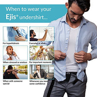 Ejis Sweat Proof Undershirts Men w/Sweat Pads & Silver, Micro Modal Crew Neck