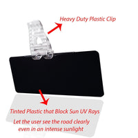 Zento Deals Tinted Windshield Anti-glare Sun Visor Extender