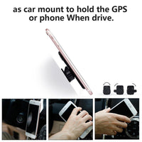 Phone Grip Lunies Phone Ring Holder Grip 3 in 1 with Car Mount for iPhone 7/7 Plus/6/6S/Plus Samsung S6 S7 Other Device and Case - Stick Tightly - One More Spare Hook Mount Sticker Black