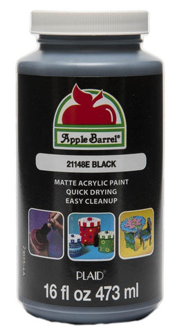 Apple Barrel Acrylic Paint in Assorted Colors (16 Ounce), 21148 Black