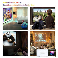 Pico Projector, Artlii Movie iphone Mini Pocket Laptop Smartphone Projector for Home Cinema Video Party - Black&White