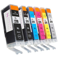 Sophia Global Compatible Ink Cartridge Replacement for PGI-270XL and CLI-271XL (6 Pack with Gray)