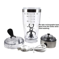 SSAWcasa Protein Shaker Bottle,USB Rechargeable Vortex Mixer,High-torque Tornado Shaker Cup,Electric Portable Stirring Blender Mixer for...