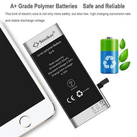 SMEIKER Battery for iPhone 6 (3.82V 1810mAh) Brand New 0 Cycle-With Complete Repair Tools Kit and Instructions [24-Month Warranty]