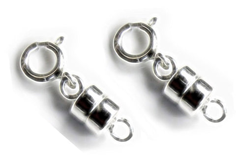 2 Sterling Silver Converters Magnetic Clasps (2 sets)