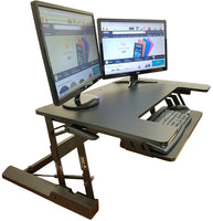 "Standing Desk Height Adjustable Stand - Up Sit Stand Desks Converter Standup Workstation Fits Big Monitors 36"" Wide"