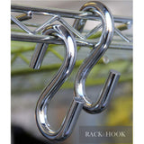 "2 Pack 3.5"" Inches S Shape Durable Heavy Duty Utility Hooks , Chrome Finish"