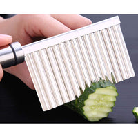 Crinkle Cutter,abtong Crinkle French Fry Cutter Stainless Steel veggies Crinkle Cutter Knife Wave Crinkle Cut Tool Carrot Slicer