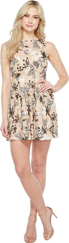 Aidan Mattox Womens Embroidered Sequin Cocktail